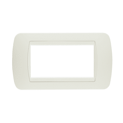 Placca 4 moduli BTicino Living International total white