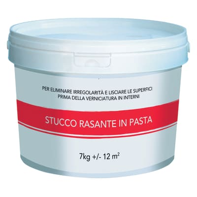 Stucco in pasta Rasante liscio bianco 7 kg