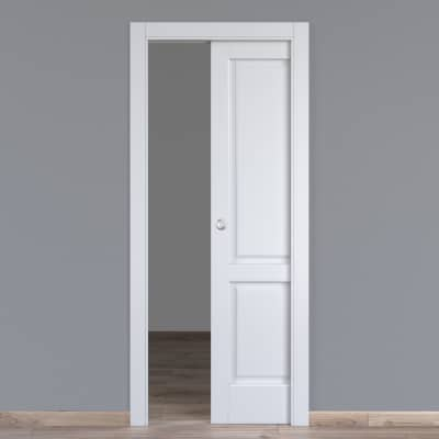 Porta da interno scorrevole Dubhe bianco 70 x H 210 cm reversibile