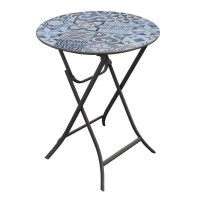 Tavolo pieghevole Bohemian, Ø 59 cm antracite