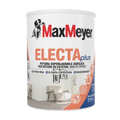 Idropittura superlavabile bianca Max Meyer ElectaPlus 0,75 L