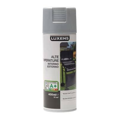 Smalto spray Luxens alte temperature argento metallizzato 400 ml