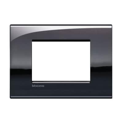 Placca 3 moduli BTicino Livinglight Air peltro