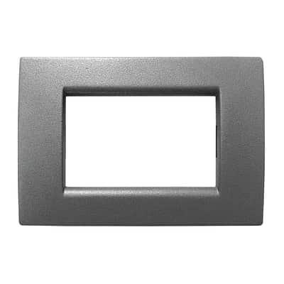 Placca 3 moduli CAL Idea grigio ardesia