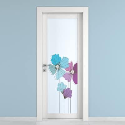 Porta da interno battente Eden larice bianco 90 x H 210 cm dx