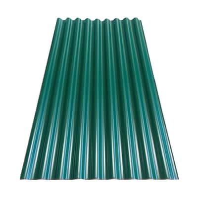Lastra ondulata verde in acciaio 106 x 180  cm, spessore 0,5 mm