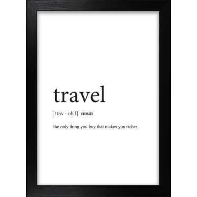 Stampa incorniciata Travel 13 x 18 cm