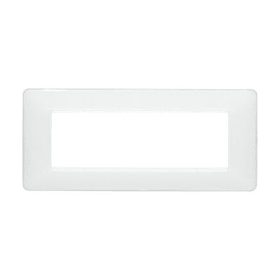 Placca 6 moduli BTicino Matix ghiaccio