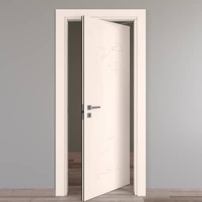 Porta da interno rototraslante Catbird crema 70 x H 210 cm dx