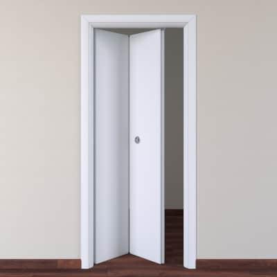Porta da interno pieghevole pearl bianco 80 x h 210 cm sx prezzi e offerte online leroy merlin - Porta a libro bianca ...