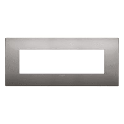 Placca 7 moduli Vimar Arké nichel nero