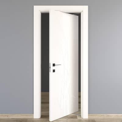 Porta da interno rototraslante Blades white bianco 70 x H 210 cm dx