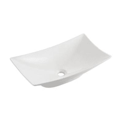 Lavabo da appoggio rettangolare New Magdalena L 57,5 x P 32,5 x H  17 cm bianco