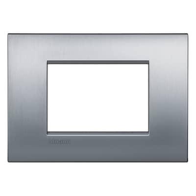 Placca 3 moduli BTicino Livinglight Air cromo