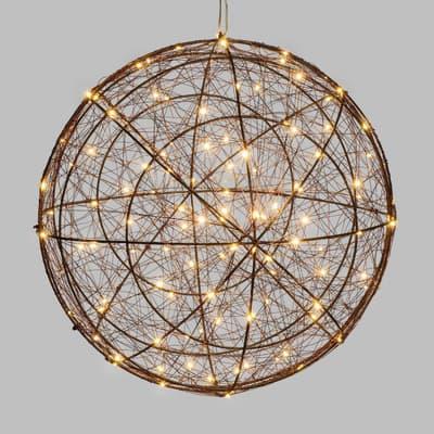 Decorazione luminosa a sfera 240 minilucciole Led classica gialla 1 m