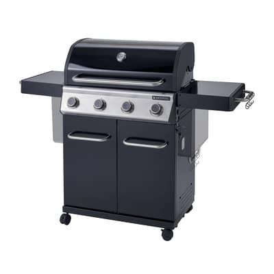 Barbecue a gas naterial kenton 4 bruciatori prezzi e for Bombola gas 5 kg leroy merlin