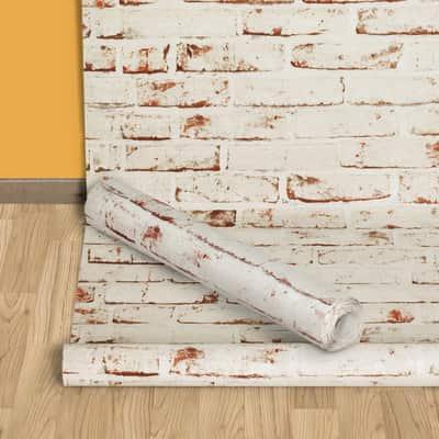 Carta da parati mattoni beige 10 m prezzi e offerte online for Carta da parati adesiva leroy merlin