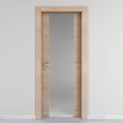 Porta da interno battente Ritz Vetro Rosa del deserto 90 x H 210 cm dx