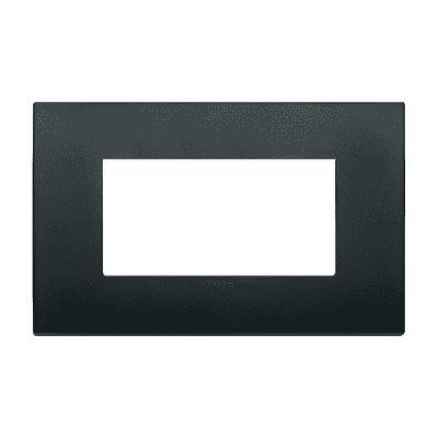 Placca VIMAR Arké 4 moduli nero