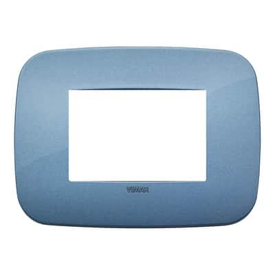 Placca VIMAR Arké 3 moduli blu