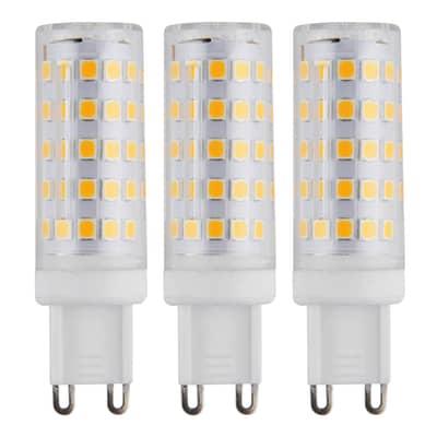 Set di 3  lampadine LED, G9, Capsula, Opaco, Luce fredda, 6W=650LM (equiv 50 W), 360°