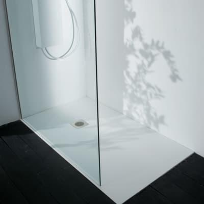 Piatto doccia ultrasottile fibra di vetro Boston 70 x 90 cm bianco