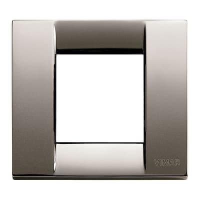 Placca VIMAR Arké Classic 2 moduli cromo nero