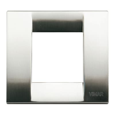 Placca VIMAR Arké Classic 2 moduli nichel spazzolato