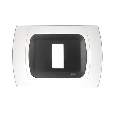 Placca CAL Click-Laser 1 modulo bianco