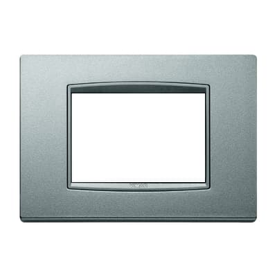 Placca VIMAR Eikon 7 moduli argento matt