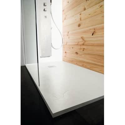 Piatto doccia ultrasottile resina Pizarra 80 x 100 cm bianco
