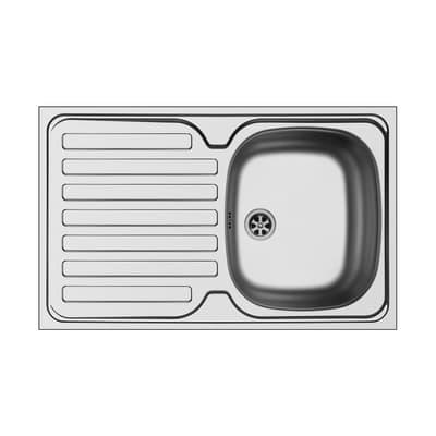 Lavello da appoggio Kama 83 x 50 cm 2 vasche con gocciolatoio