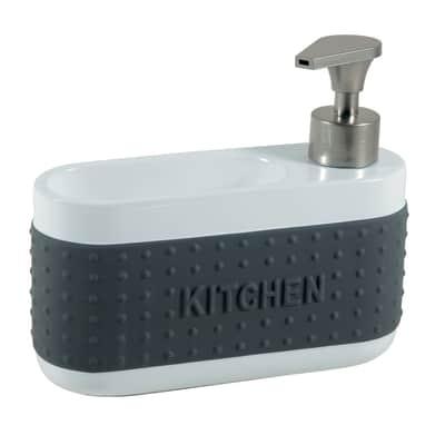 Dispenser sapone bianco/grigio
