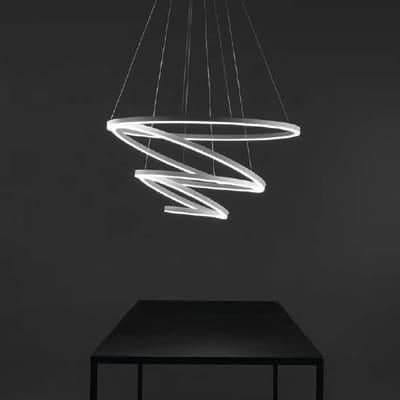 Lampadario Hurricane bianco, in alluminio, diam. 100 cm,  LED 1 luce