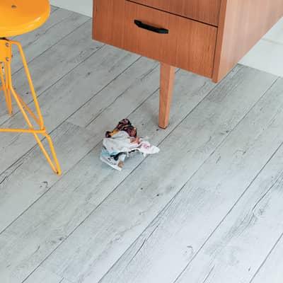 Pavimento pvc adesivo White Pecan Sp 2 mm bianco