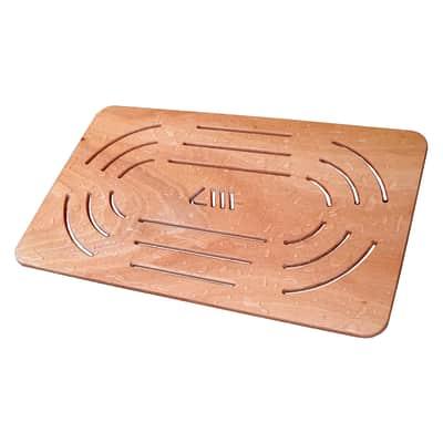 Pedana per doccia in compensato marino in legno naturale for Compensato marino leroy merlin