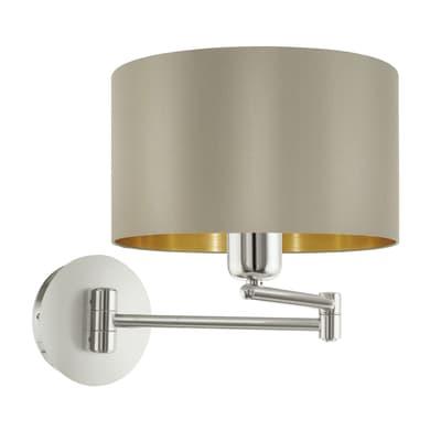 Applique glamour Maserlo tortora/oro, in acciaio inossidabile,  D. 23 cm EGLO