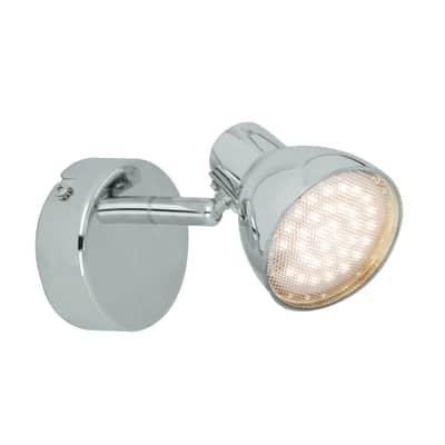Faretto a muro Iki cromo, in metallo, LED integrato 2.6W 170LM IP20 INSPIRE