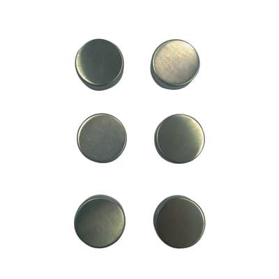 Set di 6 magneti magnetico grigio P 2.7 cm x L 27 x H 10 mm