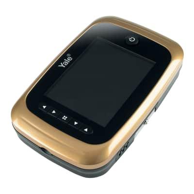 Spioncino digitale per porta blindata YALE con memoria interna ottone
