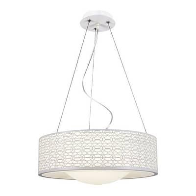 Lampadario Moderno Salvo LED integrato bianco, in metallo, L. 40 cm
