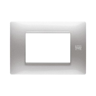 Placca SIMON URMET Nea Flexa 3 moduli alluminio