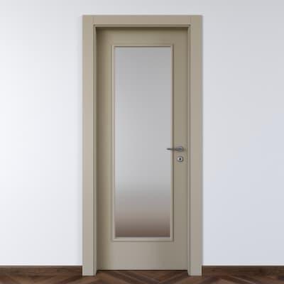 Porta a battente Cinder grigio L 80 x H 210 cm sinistra