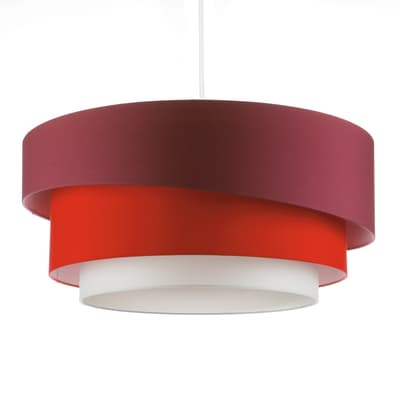 Lampadario Moderno Triplo bianco, rosso , D. 60 cm