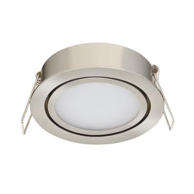 Faretto orientabile da incasso orientabile tondo Lindi in alluminio, cromo, diam. 9 cm LED integrato 500LM IP65 INSPIRE
