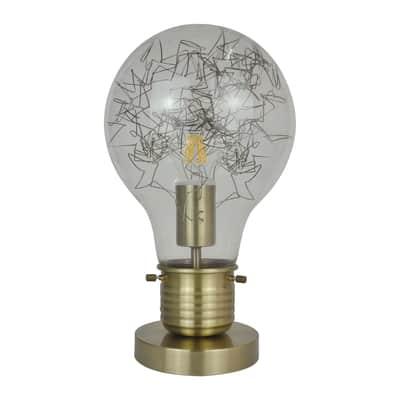 Lampada da comodino Glamour Bombilla oro, in vetro, INSPIRE