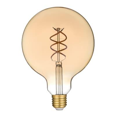 Lampadina decorativa LED filamento, E27, Globo, Ambra, Luce calda, 4.5W=300LM (equiv 28 W), 360° , LEXMAN