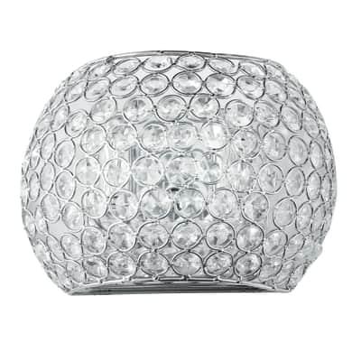 Applique Planet alluminio, in cristallo, G9 MAX28W IP20