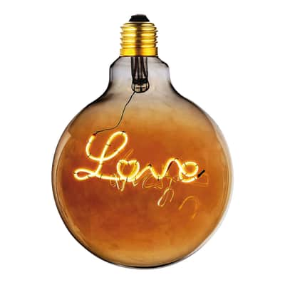 Lampadina decorativa LED Love bianco E27 4W = 180LM (equiv 20W) 360°