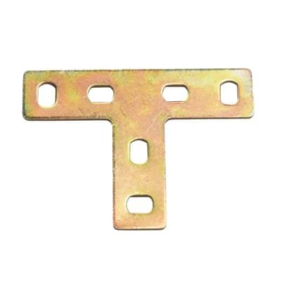 Piastra a t standers in acciaio zincato L 50 x Sp 2 x H 70 mm